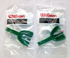 Set Of 2 Wilson Mouth Guards Single Density Adult Size Green Latex-Free >New<
