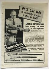 1943 Snap On Tools Torqometer Aircraft Wrench Tool Photo Vintage Print Ad