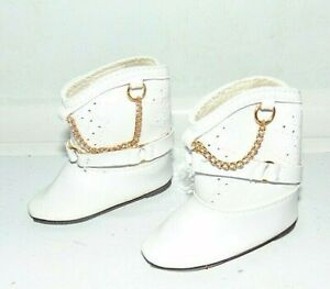 Tallinas Doll Shoes White Boots Western