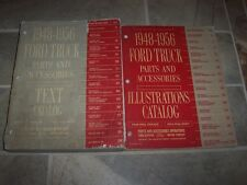1952 Ford F-1 F-2 F-3 F-4 F-5 F-6 F-7 C B Pickup Truck Parts Catalog Manual Set