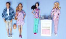 "Pregnant Midge Barbie Doll Alan Happy Family Baby Bump Doctor Nurse "" Lot 4"
