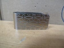 Cartier Money Clip 2C pattern Silver Stainless NO BOX