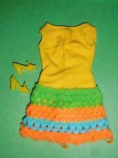 Vintage & MOD Barbie #1454 LOOP SCOOP 1970 Yellow Dress & Shoes Complete