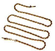 14k Oro Amarillo Beverly Hills Gold Collar de Cadena Cuerda 8.8g Antiguo Vintage