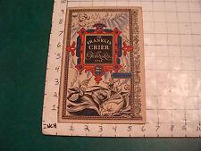 vintage The Franklin CRIER: feb 1928, TRAVEL NUMBER--scarce