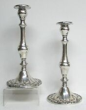 """EXQUISITE PAIR GORHAM STERLING SILVER 9 3/4"""" TALL CHANTILLY CANDLESTICKS"""