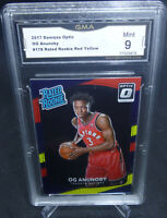2017-18 Donruss Optic Red Yellow OG Anunoby Rookie Card #178 GMA Graded Mint 9