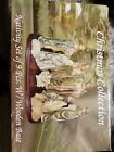 Colored Wooden Nativity Scene Christmas Figurines Set of 9