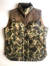 RRL  Ralph Lauren Suede York Camo Down Vest Field Olive Jacket NWT Medium M