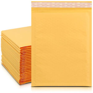 10/50/100 Kraft Bubble Mailers Padded Envelope Shipping Bags Seaedl Any Size