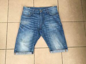 G-STAR RAW     ARC   3D STRAIGHT    Denim Shorts     Blue    Size 34 ( Fit 36 )