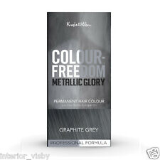 2 X Knight & Wilson Hair Colour Freedom Metallic Glory Graphite Grey Permanent