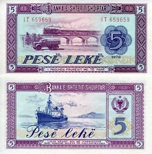 ALBANIA 5 Leke Banknote World Paper Money UNC Currency Pick p42 Bill Note Train