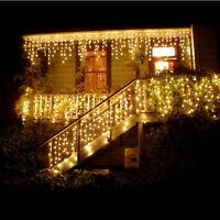 3,5 M 96LED Fée Fil Clair Rideau Lumières De Noël Mariage Noël lumières 1103