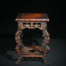 Chinese Rosewood Wooden Statue Exquisite Antique Decor Hand Carved Wood Ornament