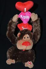 Sound N Light Animatronics Singing Valentine's Day Monkey Ape Gorilla I Love You