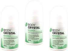 3 x 80ml BODY CRYSTAL Botanica The Body Crystal Roll On Deodorant