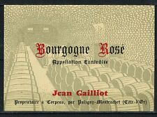 Etiquette de Vin - Bourgogne rose - J.Gailliot - New - Never Stuck - Réf.n°77