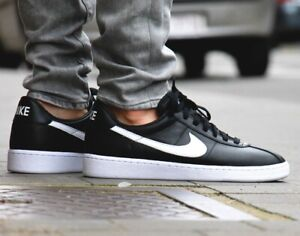 NIKE BRUIN QS Trainers Leather Casual Fashion - UK Size 9 (EUR 44) Black White