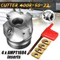 BAP 400R 50MM 4 Flute Face Milling Cutter End Mill + 4x APMT1604 Carbide Inserts