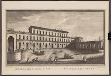 Vintage Veduta Del Real Palazzo Pitti Vue Du R. Palais Pitti Lithograph tob
