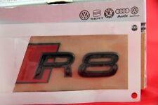 Original Audi R8 Schriftzug Emblem Logo Schwarz Hochglanz Rot