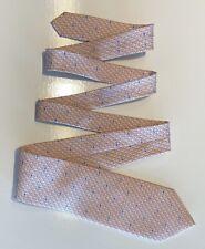 HYU Hanyang University Men's Necktie Pink W Pink & Blue Whales 100% Silk Tie EUC