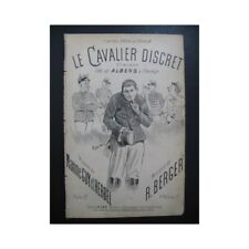 ALBENS Le Cavalier Discret Chanson partition sheet music score
