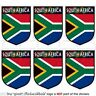 """SOUTH AFRICA African Shield Mobile, Cell Phone Mini Decals, Stickers 1,6"""" x6"""