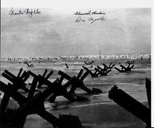 D-DAYJUNE 6,1944 OMAHA BEACH LANDING 3 D-DAY VETERANS RARE MULTI SIGNED PHOTO