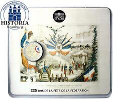 Frankreich 2 Euro Münze Föderationsfest 2015 Stempelglanz in Farbe CoinCard
