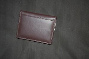 Dokumententasche, echt Leder, braun, für Ausweise, Geldkarten, keine Geldbörse