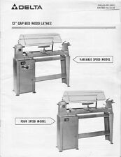 Delta Rockwell Model 46-541 12-in Gap Bed Lathe Instructions