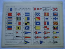 C1960S INTERNATIONAL CODE OF SIGNALS/COURSE CARD FROM LONDON & LANCASHIRE INS Co