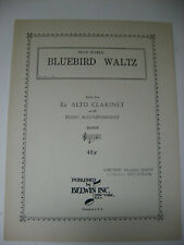 Fred Weber Bluebird Waltz Solo for E Flat Clarinet with Piano Accom Sheet Music