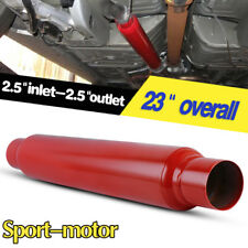 "2.5"" Inlet / 2.5"" Outlet 23"" Long Chambered High Flow Performance Race Muffler"