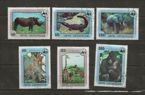 CENTRAL AFRICAN REPUBLIC CTO WILDLIFE STAMPS - R80