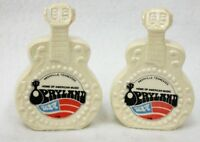 Vintage Japan Opryland Guitar Shaped Souvenir Salt and Pepper Shaker Set