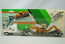 ERTL 1:64 KENWORTH Semi-Truck & Trailer with JOHN DEERE 310 D EXCAVATOR Load MOC