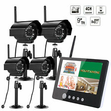 """2.4 G 9"""" LCD DVR Wireless Security Surveillance System  with 4 Cameras CCTV"""