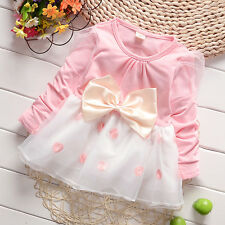 New baby Girls party dress  Baby Pretty Bowknot Top Polka Dot Dress Tutu