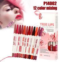 12Couleur Rouge à Lèvres Crayon Mat Longue Tenue Waterproof Gloss Lip Maquillage