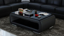 Leather Coffee Table Modern Glass Design Living Room CT9010bb