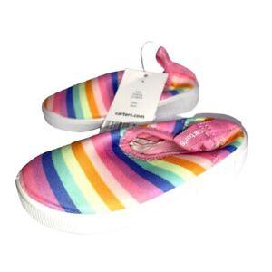 Carters Toddler Girls size 4 Rainbow Water Shoe Floati4g
