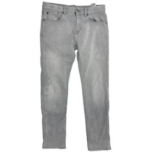 Banana Republic Men The Traveler Slim Straight Leg Jeans Size 30 Gray