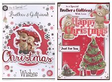 FOR A SPECIAL BROTHER AND GIRLFRIEND CHRISTMAS CARD 1ST P&P