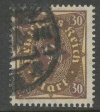 DT.REICH Posthornmarke 30 M braun/hellchromglb Type II (W) gest.INFLA geprüft