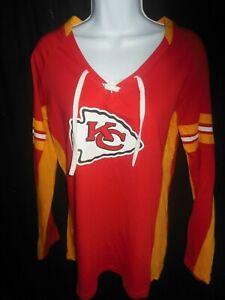 Kansas City Chiefs NFL Women's Majestic Long Sleeve Lacer Shirt