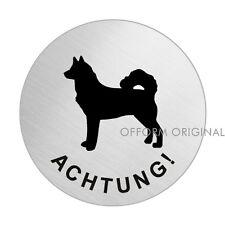 OFFORM Hundewarnschild l Schild l Achtung Husky l Ø 75 mm l Nr.39301