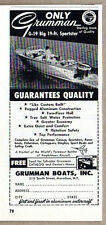 1959 Vintage Ad Grumman G-19 91 FT Sportster Boats Marathon,NY